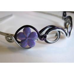 Serre-tête violet argenté