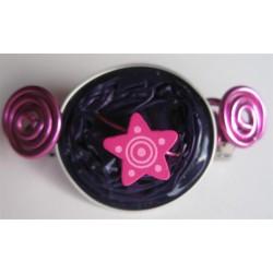 Barrette 58 mm violette étoile fuchsia