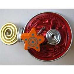 Barrette rouge et orange
