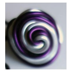 bague torsadée violette et argent