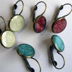 Boucles d'oreilles dormeuses bronze