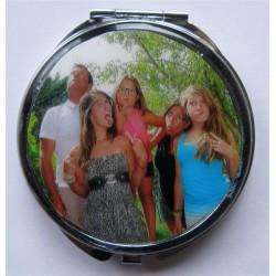 Miroir de poche personnalisé avec la photo de votre choix