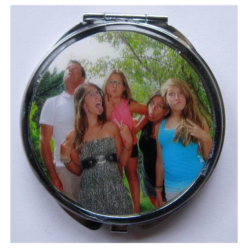 miroir de poche personnalis 233 avec la photo de votre choix cr 233 ations de
