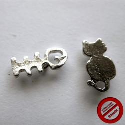 """Boucles d'oreilles """"chat arêtes"""" (Attention produit non artisanal)"""