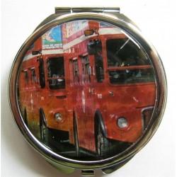 """Miroir de poche """"bus londonien"""""""