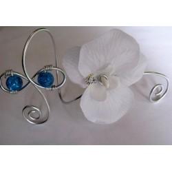 Bracelet orchidée turquoise