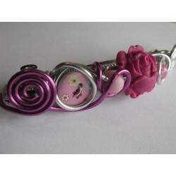 "Barrette ""rose fuchsia"""