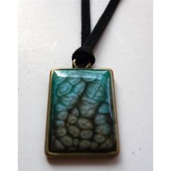 pendentif prisme onyx et turquoise