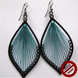 """Boucles d'oreilles """"pêche turquoise"""" (Attention produit non artisanal)"""