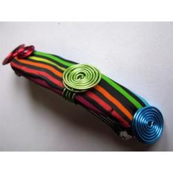 """Barrette """"rayé multicolore"""" 10 cm"""
