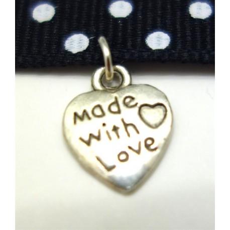 "Breloque ""made with love"""