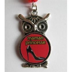 "Bijou de sac ""chouette"" : maman princesse"