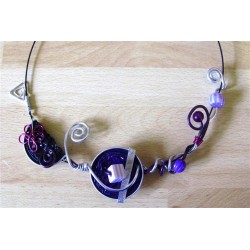 Collier violet Laurie