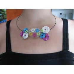 "Collier "" spirales multicolores"""