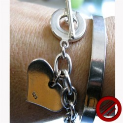 "Bracelet ""grosse maille coeur "" (Attention produit non artisanal)"