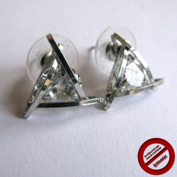 "Boucles d'oreilles ""strass triangulaire"" (Attention produit non artisanal)"