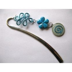 "Marque-page ""spirale turquoise"""