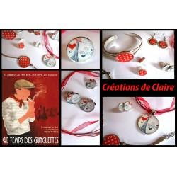 """Collection """"guinguette"""" : collier, bracelet, bague, boucles d'oreilles"""