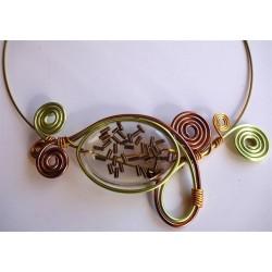 Collier perle résine handmade anis et chocolat