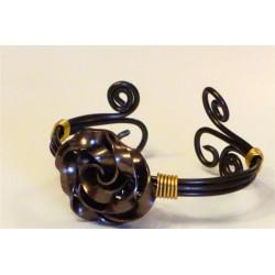 Bracelet fil alu plat