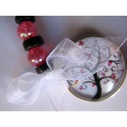 bracelet arbre de vie rose et noir