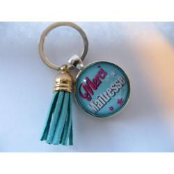 porte clés merci maîtresse turquoise