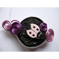 Barrette 60 mm violette et rose