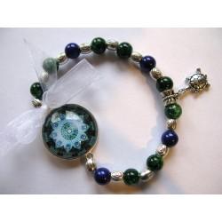 Bracelet cabochons bleus