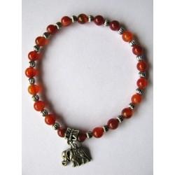 Bracelet en pierres fines (agate dans les tons rose grisé)
