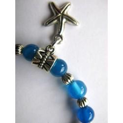 Bracelet en pierres fines (agate dans les tons bleutés)