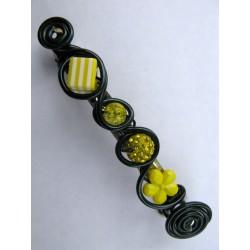 Barrette 100mm jaune et noire