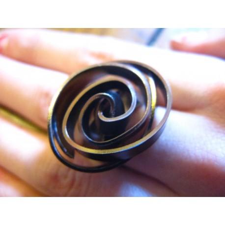 bague spirale alu plat (coloris au choix)