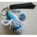 Porte clés basket bleue